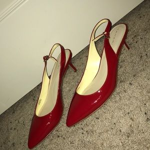 Tahari Red Small Heels